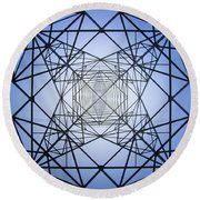 Electrical Symmetry Round Beach Towel