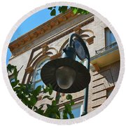 Round Beach Towel featuring the photograph Electrifying  Architecture by Skip Willits