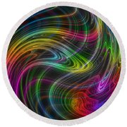Round Beach Towel featuring the photograph Electron Storm by Mark Blauhoefer
