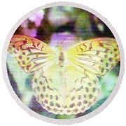 Round Beach Towel featuring the digital art Electronic Wildlife  by Bee-Bee Deigner