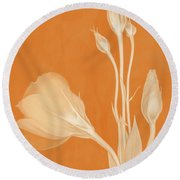Elegance In Apricot Round Beach Towel