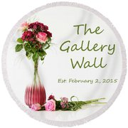 Round Beach Towel featuring the photograph Elegance-the Gallery Wall Logo by Wendy Wilton