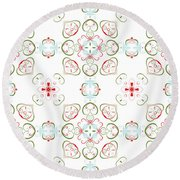 Elegant Christmas #02 Round Beach Towel