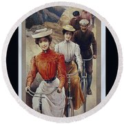 Elegant Fongers Vintage Stylish Cycle Poster Round Beach Towel