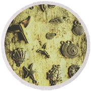 Elemental Marine Decorations Round Beach Towel
