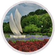 Elements At Avenue Of The Arts Round Beach Towel