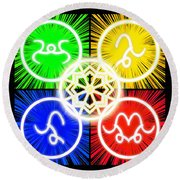 Round Beach Towel featuring the digital art Elements Of Consciousness by Shawn Dall