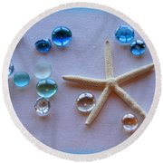 Elements Of The Sea Round Beach Towel