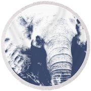 Elephant 4 Round Beach Towel