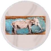 Elephant Round Beach Towel by Ann Michelle Swadener