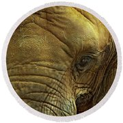 Elephant Eye Round Beach Towel