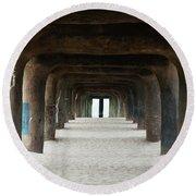 Round Beach Towel featuring the photograph Elephant Legs by Lorraine Devon Wilke