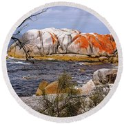 Elephant Rock - Bay Of Fires Round Beach Towel