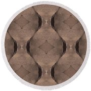 Elephant Skin Round Beach Towel by Maria Watt