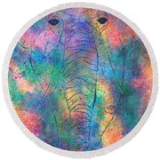 Elephant Spirit Round Beach Towel