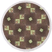 Elephant Trunk Round Beach Towel by Maria Watt