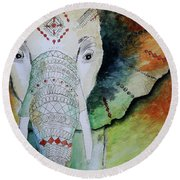 Elephantastic Round Beach Towel
