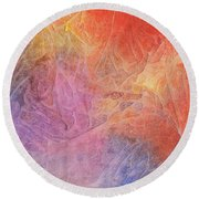 Eleyna's Forest Round Beach Towel