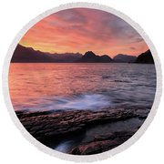 Elgol Sunset - Isle Of Skye 2 Round Beach Towel