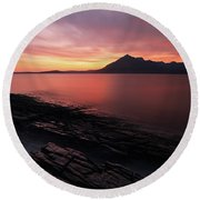Elgol Sunset - Isle Of Skye Round Beach Towel