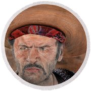 Eli Wallach As Tuco In The Good The Bad And The Ugly Version II Round Beach Towel