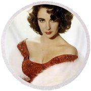 Elizabeth Taylor Round Beach Towel