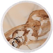 Elke The Other Way Round Beach Towel