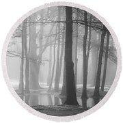 Ellacoya Fog - January Thaw Round Beach Towel