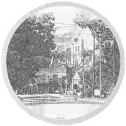 Round Beach Towel featuring the photograph Ellaville, Ga - 1 by Jerry Battle