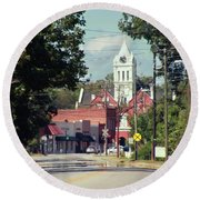 Round Beach Towel featuring the photograph Ellaville, Ga - 2 by Jerry Battle