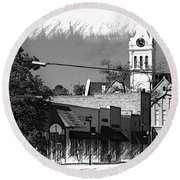 Round Beach Towel featuring the photograph Ellaville, Ga - 3 by Jerry Battle