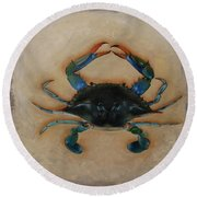 Ellen's Crab Round Beach Towel