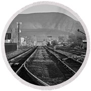 Ellensburg Station Round Beach Towel