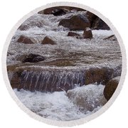 Ellenville Waterfall Round Beach Towel