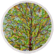 Ellie's Tree Round Beach Towel