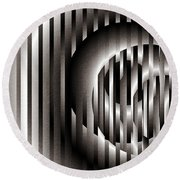 Round Beach Towel featuring the digital art Ellipse On Grid by Richard Ortolano
