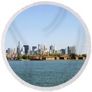 Ellis Island New York City Round Beach Towel