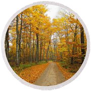 Round Beach Towel featuring the photograph Ellison Bay by Greta Larson Photography