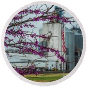 Round Beach Towel featuring the photograph Ellsworth Blooms by Darren White
