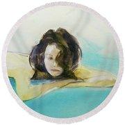 Elodie Round Beach Towel by Ed Heaton