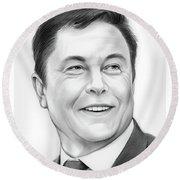 Elon Musk Round Beach Towel