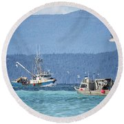 Elora Jane Round Beach Towel by Randy Hall
