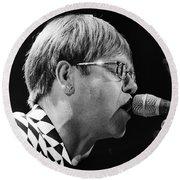 Elton John-0143 Round Beach Towel by Gary Gingrich Galleries