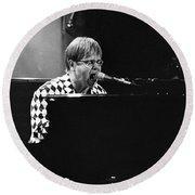 Elton John-0147 Round Beach Towel by Gary Gingrich Galleries