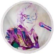 Elton John Round Beach Towel by Dan Sproul