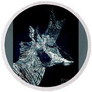 Elusive Visions Antelope Buck Round Beach Towel
