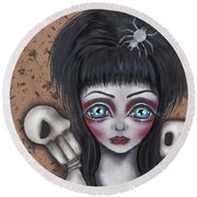 Elvira Round Beach Towel by Abril Andrade Griffith