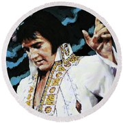 Elvis - How Great Thou Art Round Beach Towel