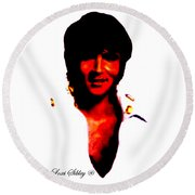 Elvis By Loxi Sibley Round Beach Towel