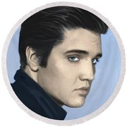 Elvis Round Beach Towel by Paul Tagliamonte